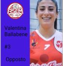 Valentina Ballabene chiude il reparto degli opposti